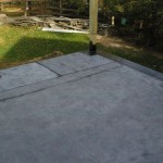 Rubber roof system in place and ready for deck system over the top