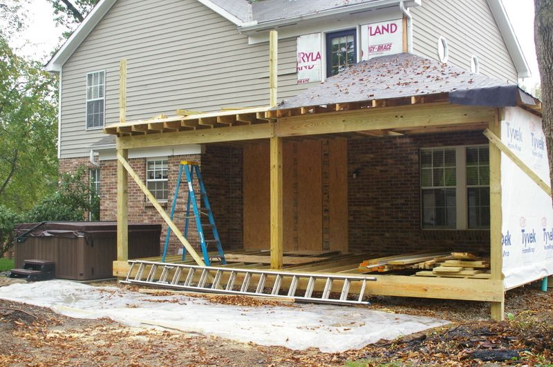 Loveland two story porch o 39 donnell construction services for How to build a 2nd story floor